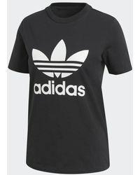 adidas Originals Trefoil T-shirt Met Logoprint - Zwart