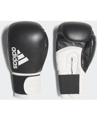 adidas Hybrid 100 Boxing Gloves - Black