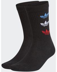 adidas Tricolor Thin Ribbed Sokken 2 Paar - Zwart