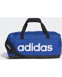 adidas Linear Logo Duffeltas - Blauw