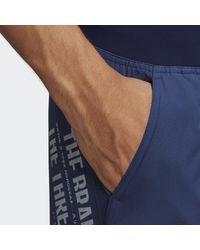 adidas Zip Pocket Tech Zwemshort - Blauw