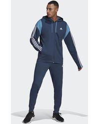 adidas Sportswear Ribbed Insert Trainingspak - Blauw