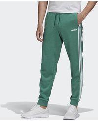 adidas Pantalon Essentials 3-Stripes Tapered Cuffed - Vert