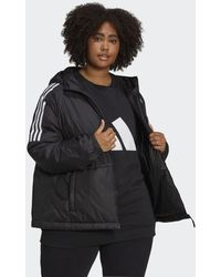 adidas Giacca Essentials Insulated Hooded (Taglie plus) - Nero