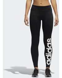 adidas - Full-length Fabric Mix Tights - Lyst