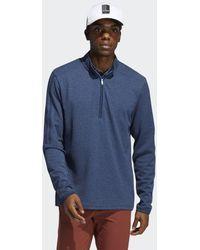 adidas 3-Streifen Quarter-Zip Pullover - Blau