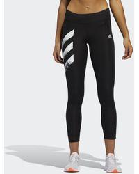 adidas Own The Run 3-stripes Fast Legging - Zwart