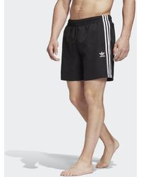 adidas 3-stripes Zwemshort - Zwart
