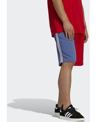 adidas Blocked 3-stripes Joggingshort - Rood