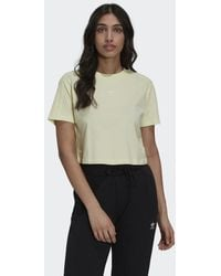 adidas Tennis Luxe Cropped T-shirt - Geel