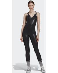 adidas By Stella Mccartney All-in-one Shiny Bodysuit - Black