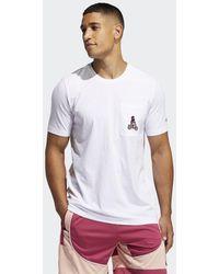 adidas T-shirt Harden Avatar Pocket - Bianco