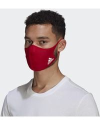 adidas Masque M/L (3 articles) - Rouge
