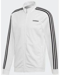 adidas Essentials 3-stripes Tricot Track Top - White