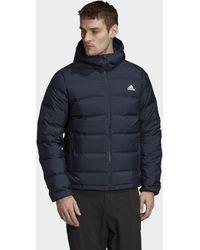 adidas Helionic Hooded Down Jacket - Blue