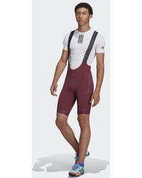 adidas The Padded Adiventure Cycling Trägershorts - Rot