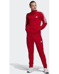 adidas Survêtement AEROREADY Sereno Cut 3-Stripes - Rouge