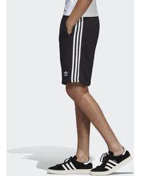 adidas Originals 3-Stripes Fleece Shorts - Negro