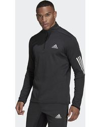 adidas Quarter-zip Long-sleeve Top - Black