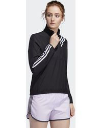 adidas Anorak Run It 3-Stripes - Noir