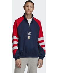 adidas Arsenal Trefoil Quarter-zip Track Jacket - Blue