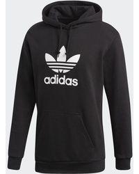 adidas Originals Trefoil Black Pullover Hoodie