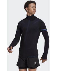 adidas Sudadera Primeknit Running Mid-Layer - Negro