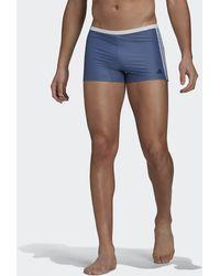 adidas - 3-stripes Swim Briefs - Lyst