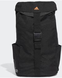 adidas Standards Flap Rucksack - Schwarz