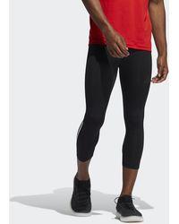 adidas - Techfit 3/4 3-stripes Tights - Lyst