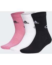 adidas Basketball Sokken 3 Paar - Roze
