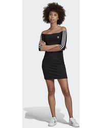 adidas Off-the-shoulder Dress - Black