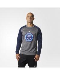 adidas - New York City Fc Ultimate Crew Sweatshirt - Lyst