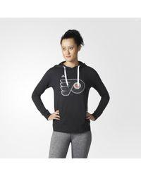 adidas - Flyers Logo Shine Hoodie - Lyst