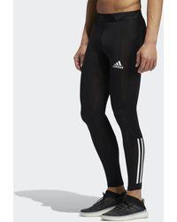 adidas Techfit 3-stripes Lange Legging - Zwart