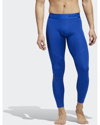 adidas Alphaskin Sport Lange Legging - Blauw