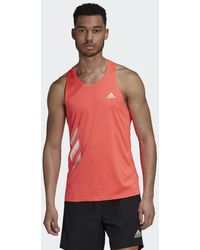 adidas - Own The Run 3-stripes Pb Singlet - Lyst