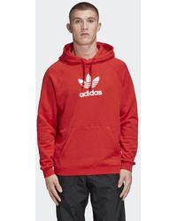 adidas 'Premium' Kapuzenpullover - Rot