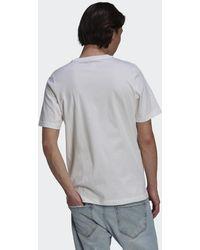 adidas T-shirt Strawberry Trefoil - Bianco