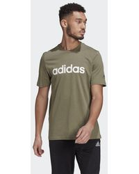 adidas - Essentials Embroidered Linear Logo T-Shirt - Lyst