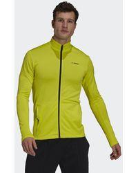 adidas Terrex Multi Primegreen Fleece Ritsjack - Geel