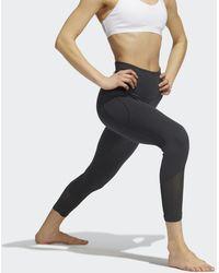 adidas Yoga Power Mesh 7/8 Legging - Grijs