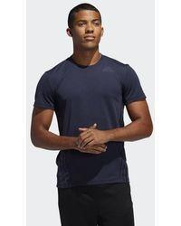 adidas AEROREADY 3-Streifen T-Shirt - Blau