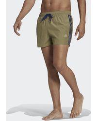 adidas Classic 3-Streifen Badeshorts - Grün