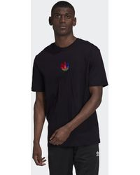adidas 3d Trefoil Graphic T-shirt - Zwart