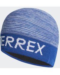 adidas Bonnet Terrex Logo - Bleu