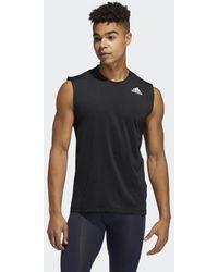 adidas Techfit Mouwloos Fitted Shirt - Zwart