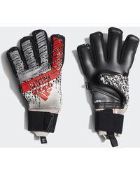 adidas Predator Pro Fingersave Goalkeeper Gloves - Black