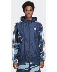 adidas Camouflage Windbreaker - Blau