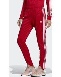 adidas Pantalón SST - Rojo